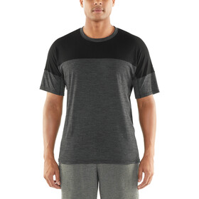 Icebreaker Kinetica SS Crewe Top Men, black heather/black